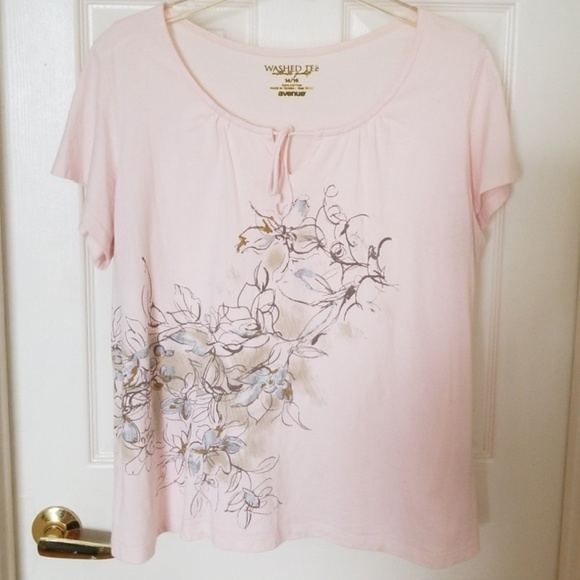 Avenue Tops - AVENUE WASHED TEE AUTHTIC QUALITY NWOT BLUSH PINK